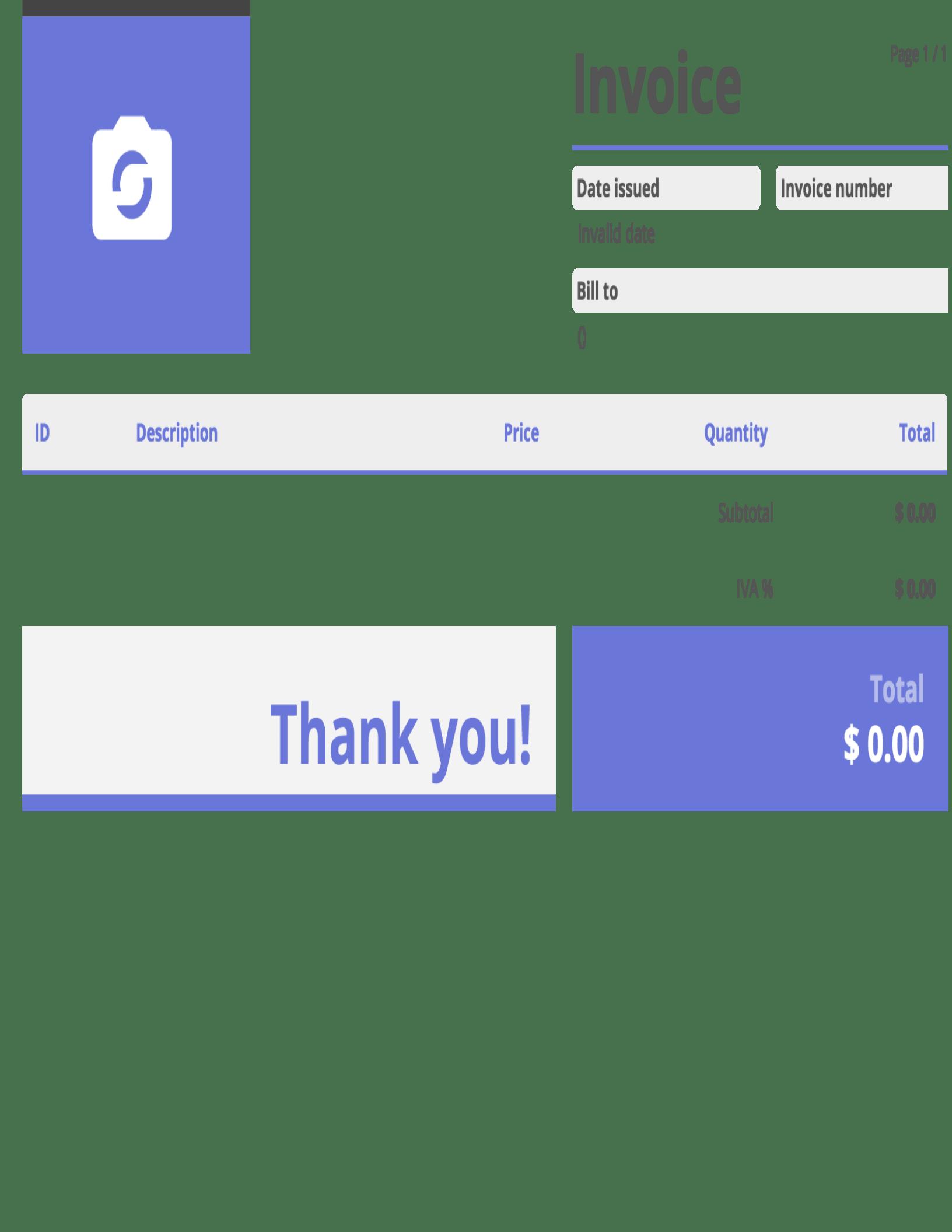 Templates PrexView - Xml invoice template